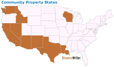 U.S. Community Property States Map